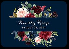 exquisite bouquet wedding response card