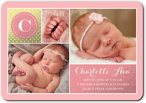 Brilliant Introduction Girl Birth Announcement