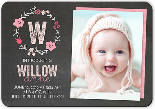 Crafty Collage Girl Birth Announcements – Electronic Baby Announcements
