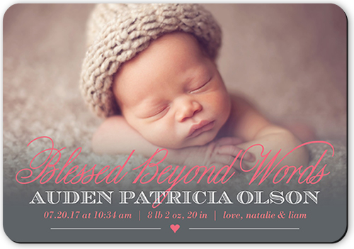 Beyond Blessed Girl Birth Announcement