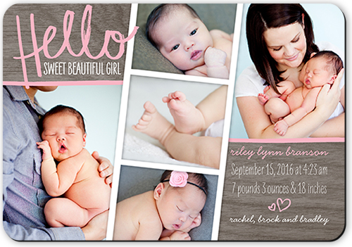 Hello Sweet Girl Birth Announcement