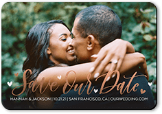 saved hearts save the date