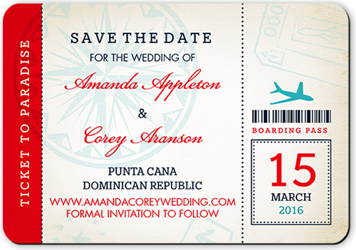 photo of Ticket To Paradise Save The Date