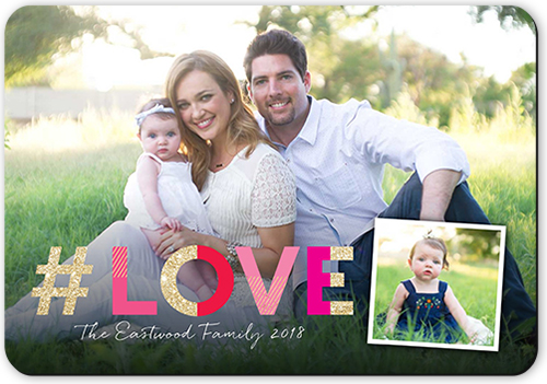 Hashtag Love Valentine's Card, Rounded Corners