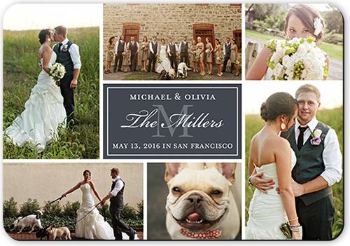 Monogram Match Wedding Announcement