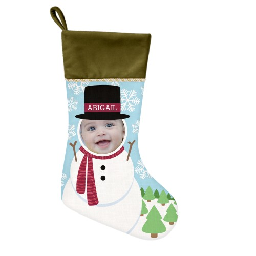 I'm A Snowman Christmas Stocking, Moss Green, Multicolor