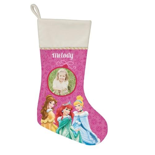 Disney Princesses Christmas Stocking, Natural, Pink