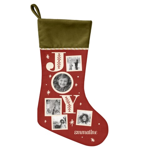 Joy Christmas Stocking, Moss Green, DynamicColor