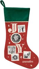 joy christmas stocking