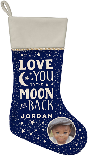Starry To The Moon and Back Christmas Stocking