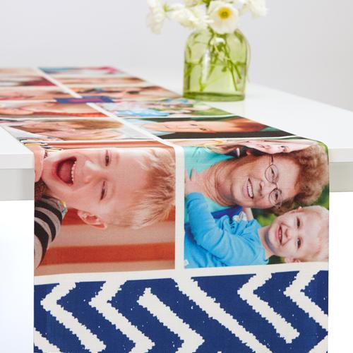 Lively Frames Table Runner, 90 x 14, Blue