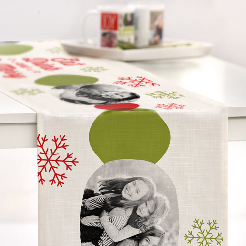 Merry Snowflakes Table Runner, 108 x 16, White