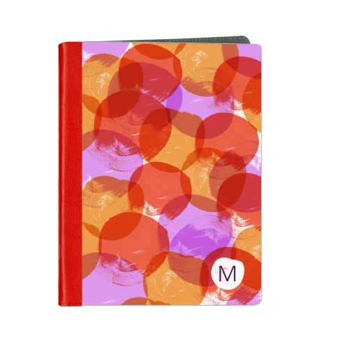 Watercolor Circles ipad Case, Red, iPad 1,2,3,4, Multicolor