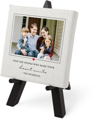 classic heart quote tabletop canvas print