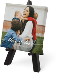 love is tabletop canvas print