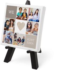 we love rustic heart tabletop canvas print