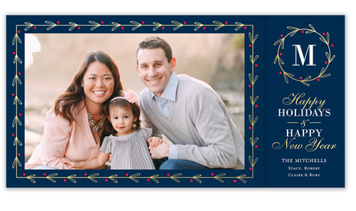 Framed Gilded Berries Holiday Card