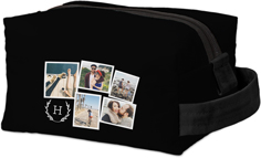 chic rustic collage kids toiletry bag