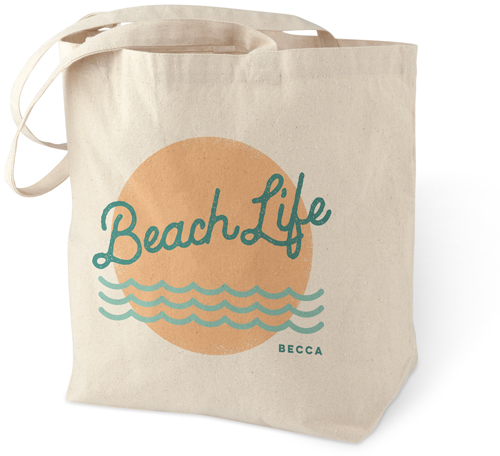 Beach Life Cotton Tote Bag By Shutterfly
