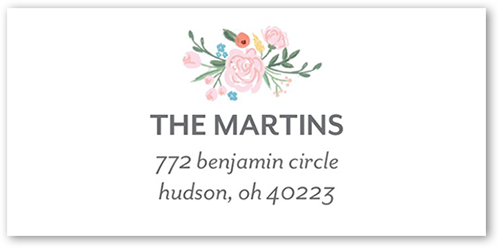 Blooming Floral Address Label