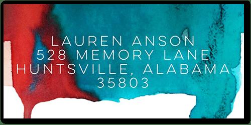 Remarkable Monogram Watercolor Address Label