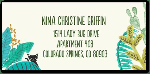 My Kinda Weird Address Label