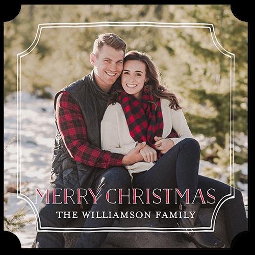 Grateful Frame Holiday Card, Ticket Corners