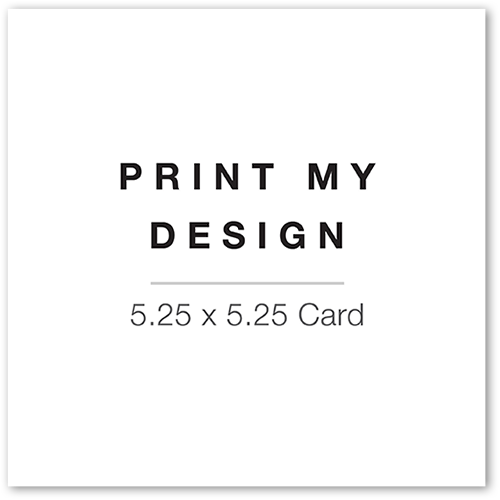 Print My Design Christmas Card, Square Corners
