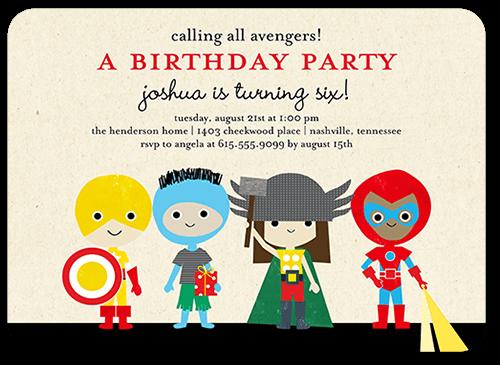 Heroic Celebration Birthday Invitation
