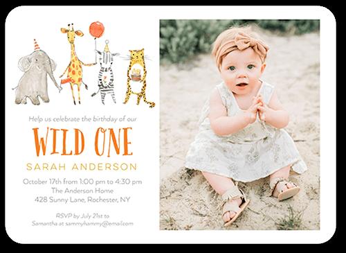 Safari Party Birthday Invitation