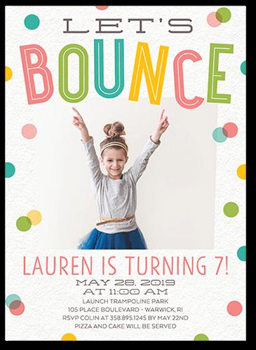 Bouncing Party Birthday Invitation