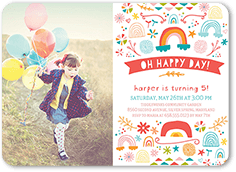 Candied Rainbows Birthday Invitation