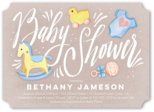 shower accents baby shower invitation ticket corners
