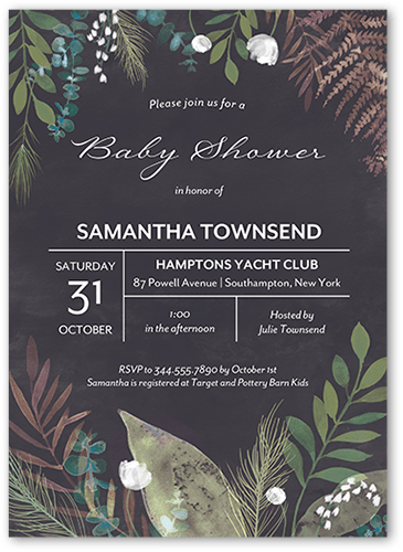 Peony Baby Baby Shower Invitation, Square