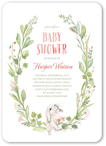 Sprouting Love Baby Shower Invitation, Rounded Corners