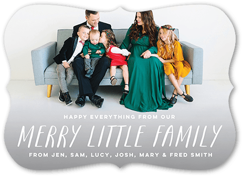 Merry Little Family Holiday Card, Bracket Corners