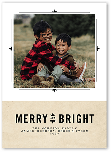 Bright Sentiment Holiday Card, Square Corners