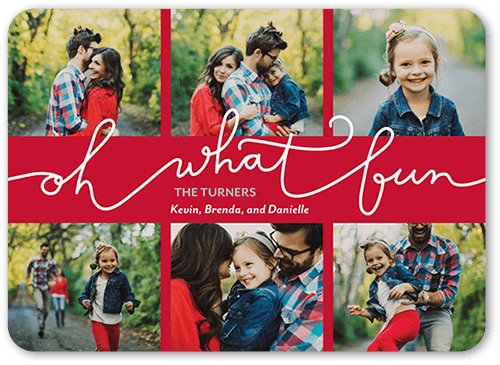 Fun Statement Holiday Card, Rounded Corners
