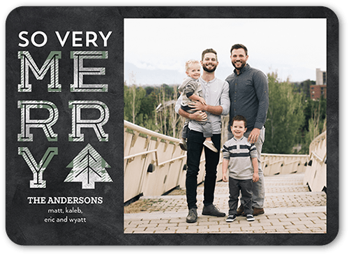 So Very Plaid Holiday Card, Rounded Corners