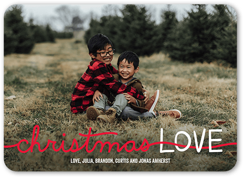 Love Interlace Holiday Card, Rounded Corners