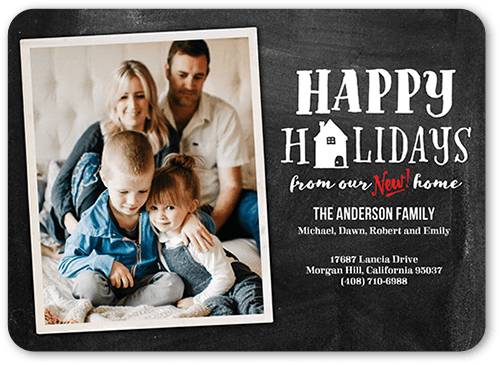 Household Portrait Holiday Card, Rounded Corners