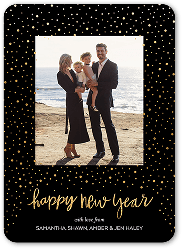 Cheerful Confetti New Year's Card