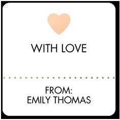blushing bash stickers  sc 1 st  Tiny Prints & Gift Tags | Tiny Prints