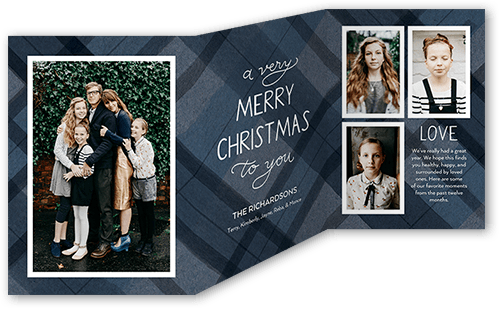 Very Plaid Holiday Card, Square