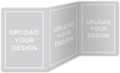 upload your own design wedding card 5x7 trifold