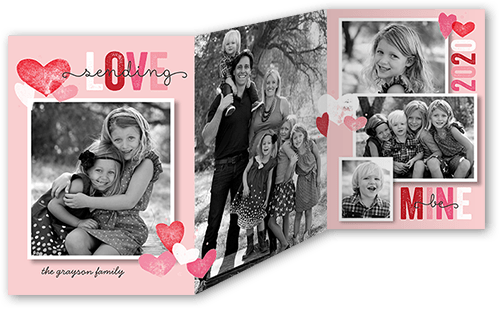 Special Stamps Valentine's Card, Square