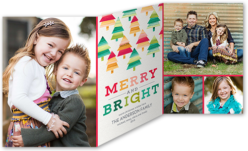 Merry Bright Trees Christmas Card