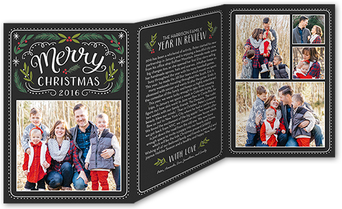 Merry Chalk Berries Christmas Card