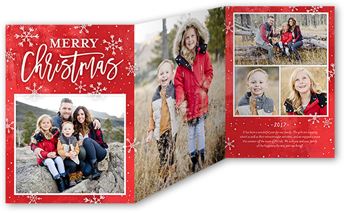 Peaceful Merry Flurries Christmas Card