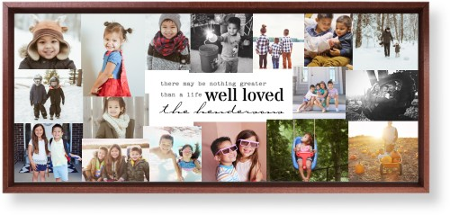 Well Loved Collage Mounted Wall Art, Single piece, Brown, 10 x 24 inches, White